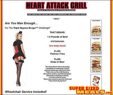 heart attack burger guy dies. occasional urger fries eat