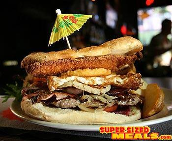 SupersizedMeals com - The Bogan Burger, Napier Hotel