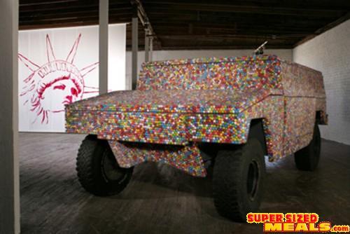 Supersizedmeals Com A Hummer Made Out Of Gum