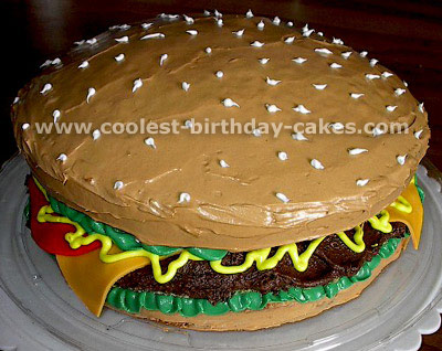 SupersizedMeals.com - Giant Burger Birthday Cakes