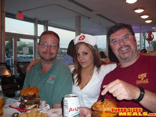 heart attack burger. at Heart Attack Grill