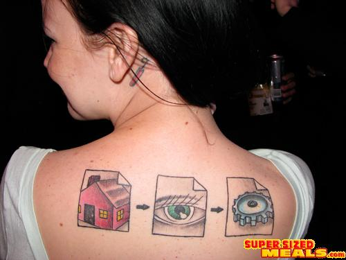 """I'm a Web engineer,"" she explained, ""so the tattoo represents the proper"